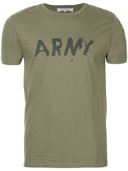 Anrealage Power Army T Shirt Green
