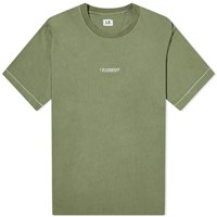 C.P. Company Chest Logo Tee Green