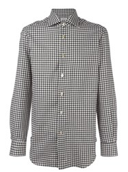 Kiton Checked Shirt Black
