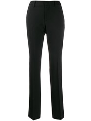 Pt01 High Waisted Slim Fit Trousers Black