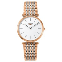Longines L47551927 Women's La Grande Classique Two Tone Bracelet Strap Watch Rose Gold Silver