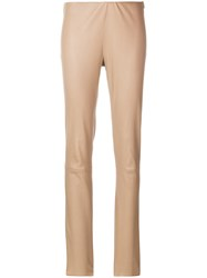 Drome Skinny Trousers Nude And Neutrals