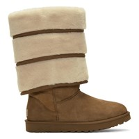 Y Project Brown Uggs Edition Layered Boots