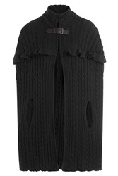 Philosophy Di Lorenzo Serafini Wool Cable Knit Cape Black