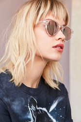 Urban Outfitters Coastal Round Sunglasses Clear