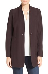 Eileen Fisher Women's Washable Stretch Crepe Stand Collar Jacket Clove