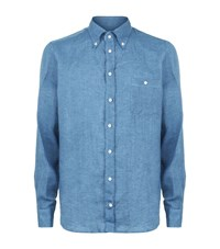 Richard James Linen Shirt Male Blue