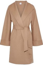 Iris And Ink Maggie Wool Cashmere Blend Coat Sand