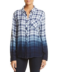 Beachlunchlounge Leigh Ombre Plaid Shirt Blue Tusk