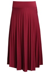 Anna Field Pleated Skirt Burgundy Bordeaux