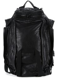 Julius Leather Backpack Black