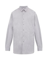 Raey Batwing Sleeve Cotton Shirt Grey