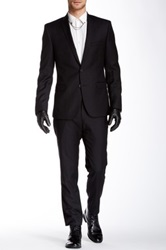 Ben Sherman Camden Solid Skinny Fit Wool Suit Black