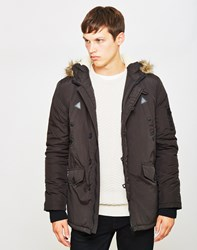 The Idle Man Nylon Parka Black