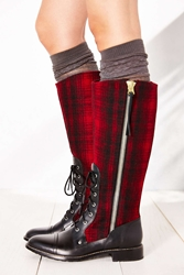 Woolrich Roadhouse Buffalo Plaid Tall Boot Red
