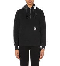 Aape By A Bathing Ape Branded Jersey Hoody Black