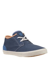 Timberland Hookset Canvas Camp Lace Chukka Sneakers Blue