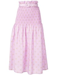 Nicholas Smocked Skirt Purple