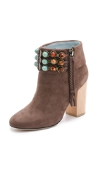 Dannijo Rexi Embellished Booties Latte