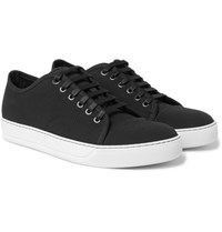 Lanvin Cap Toe Canvas Sneakers Black