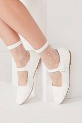 Urban Outfitters Leather Mary Jane Flat White