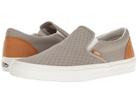 Vans Classic Slip On Leather Perf Moon Rock Cashew Skate Shoes Gray
