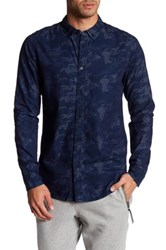 Bench Monogram Regular Fit Shirt Blue