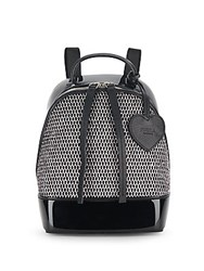 Furla Candy Aria Leather Blend Mesh Front Backpack Rodonite