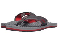 The North Face Base Camp Plus Flip Flop Dark Shadow Grey Tnf Red Men's Sandals Gray