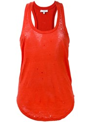 Iro Nibbled Racer Back Vest Red