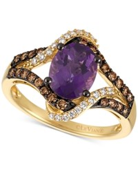 Le Vian Chocolatier Amethyst 1 3 8 Ct. T.W. And Diamond 3 8 Ct. T.W. Ring In 14K Gold Yellow Gold