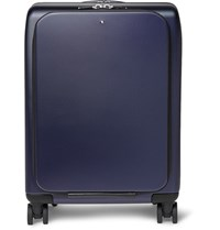 Montblanc Nightflight Leather Trimmed Hardshell Carry On Suitcase Navy