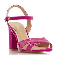 Head Over Heels Missty Block Heel Cross Strap Sandals Pink