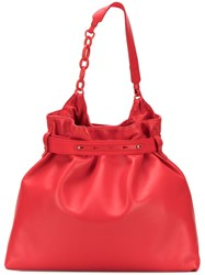 Lanvin Chain Detail Tote Red
