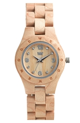 Wewood 'Moon Deneb' Wood Bracelet Watch 29Mm Beige