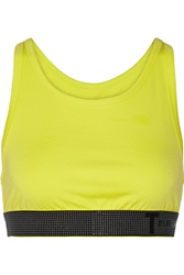 Alexander Wang High Density Lux Neon Ponte Jersey Sports Bra