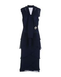 Musani Couture 3 4 Length Dresses Dark Blue