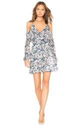 Bcbgeneration Cold Shoulder Dress In Whisper White Multi