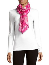 Moschino Printed Rectangular Scarf Bright Pink