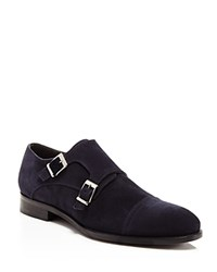 Crosby Square Conley Cap Toe Double Monk Strap Dress Shoe Navy