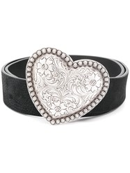 B Low The Belt Heart Buckle Black