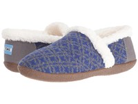 Toms Slipper Blue Grey Fair Isle Women's Slippers