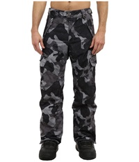 686 Authentic Smarty Cargo Pant Regular Gunmetal Canvas Camo Men's Outerwear Black