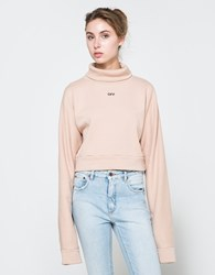 Off White Stamp Turtleneck Sweater Nude