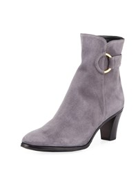 Gravati Suede Booties With Ring Gray