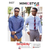 Simplicity Mens' Fitted Shirt Sewing Pattern 8427