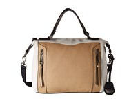Jessica Simpson Kyle Crossbody Satchel Beige White Ink Satchel Handbags Tan