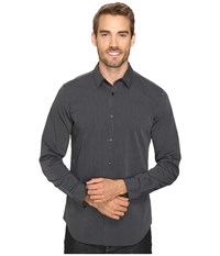 Calvin Klein Stripe Woven Black Men's Long Sleeve Button Up
