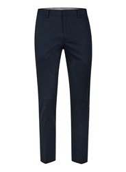 Topman Blue Navy Twill Ultra Skinny Fit Cropped Dress Pants