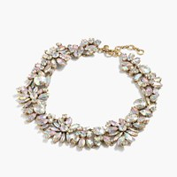 J.Crew Iridescent Crystal Cluster Necklace Crystal Ab